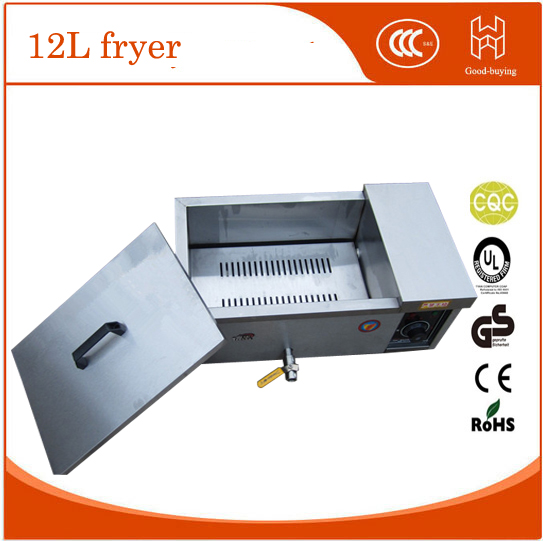 Electric chicken commercial deep fryer with bamboo stick 1000pcs special for tornado potato spiral potato twiter fryer  220v 12l electric deep fryer for spiral potato twister potato tornado potato fry potato churros chicken