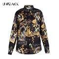 8 colores uwback 2016 nueva marca de lujo camisa de los hombres más tamaño de Manga larga de Europa Los Hombres de Lujo Camisas 3D Summer Camisa de Los Hombres Tops CAA113