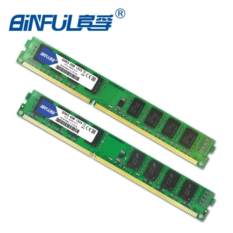 Binful Original New Brand 2GB 4GB DDR3 PC3-10600 RAM памет - Компютърни компоненти