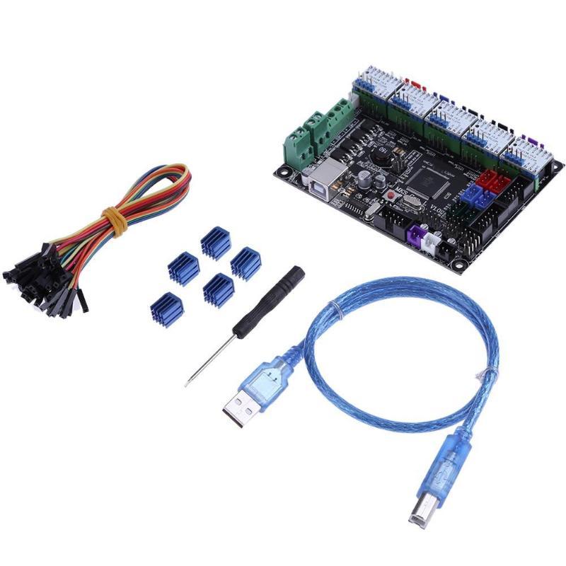 ALLOYSEED MKS Gen V1.0 3D Printer Control Board+ 5pcs TMC2130 V1.1 Stepper Motor Drivers for Ramps1.4 composite interface vakind mks gen v1 0 3d printer control board 5pcs tmc2100v1 3 stepper motor driver for 3d printer parts