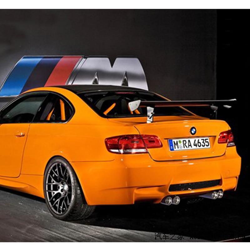 For BMW M3 Spoiler E92 E46 GTS Style 100% Carbon Fiber Universal Rear Wing Spoiler for bmw 3 series e46 m3 spoiler 2001 2002 2003 2004 2005 2dr 4dr black carbon fiber rear wing spoiler