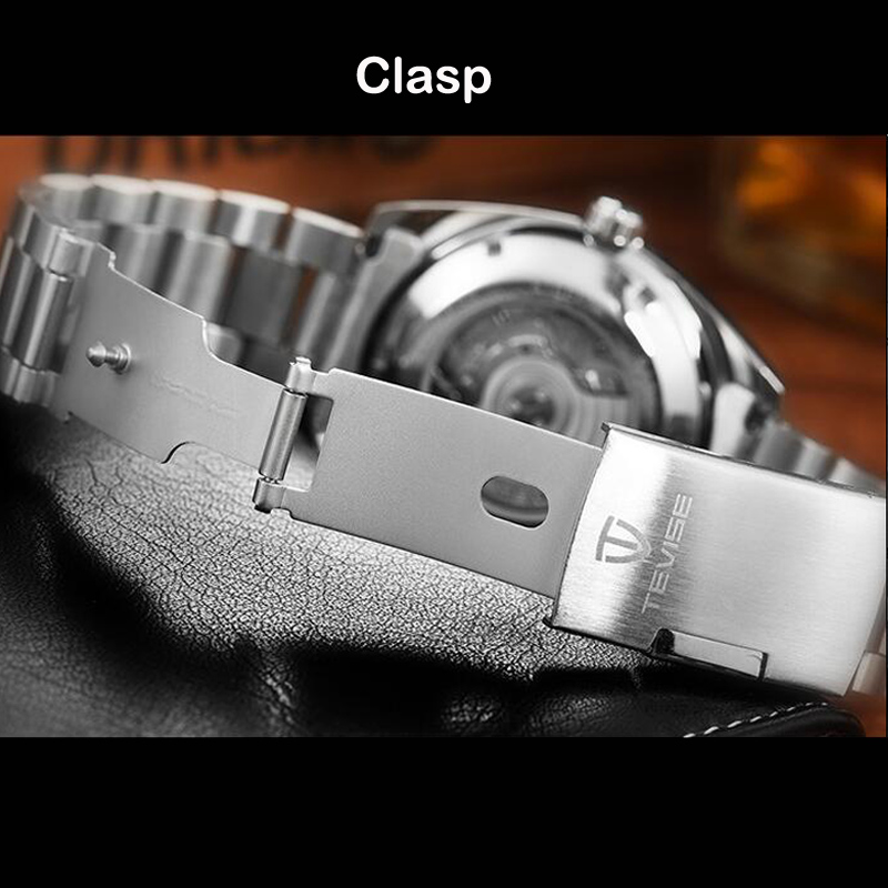 Image 5 - Drop Shipping Tevise Top Brand Men Mechanical Watch Automatic Fashion Luxury Stainless Steel Male Clock Relogio Masculino 2020masculinos relogiosmasculino relojemasculino watch -