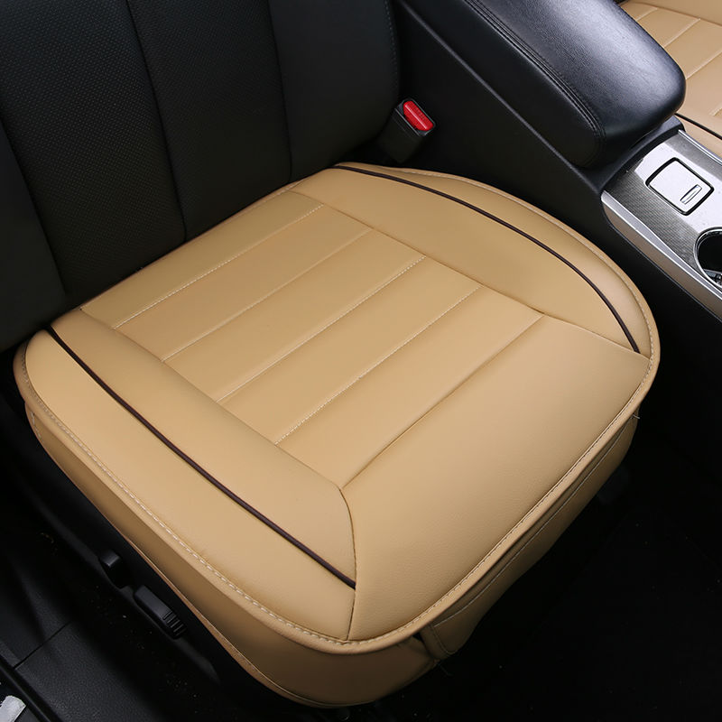 Leather Car Seat Cover Set Non Slide Auto Cushions