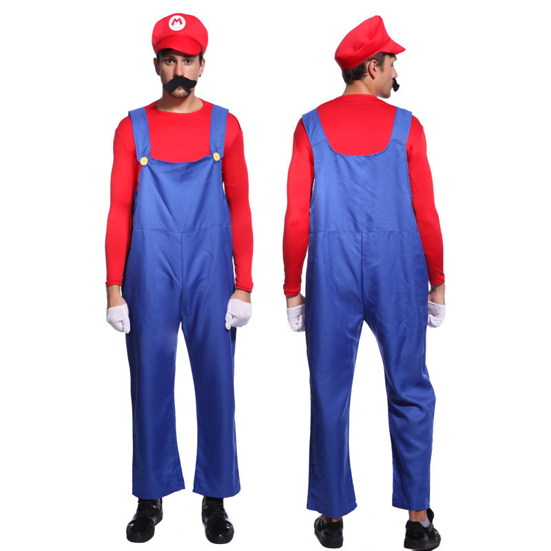 mens super mario brothers bros costumes party fancy dress hat