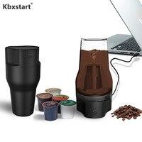 Kbxstart Mini portátil USB de carga de taza de café cafetera de extracción de circulación máquina de café de viaje con filtro Kcup