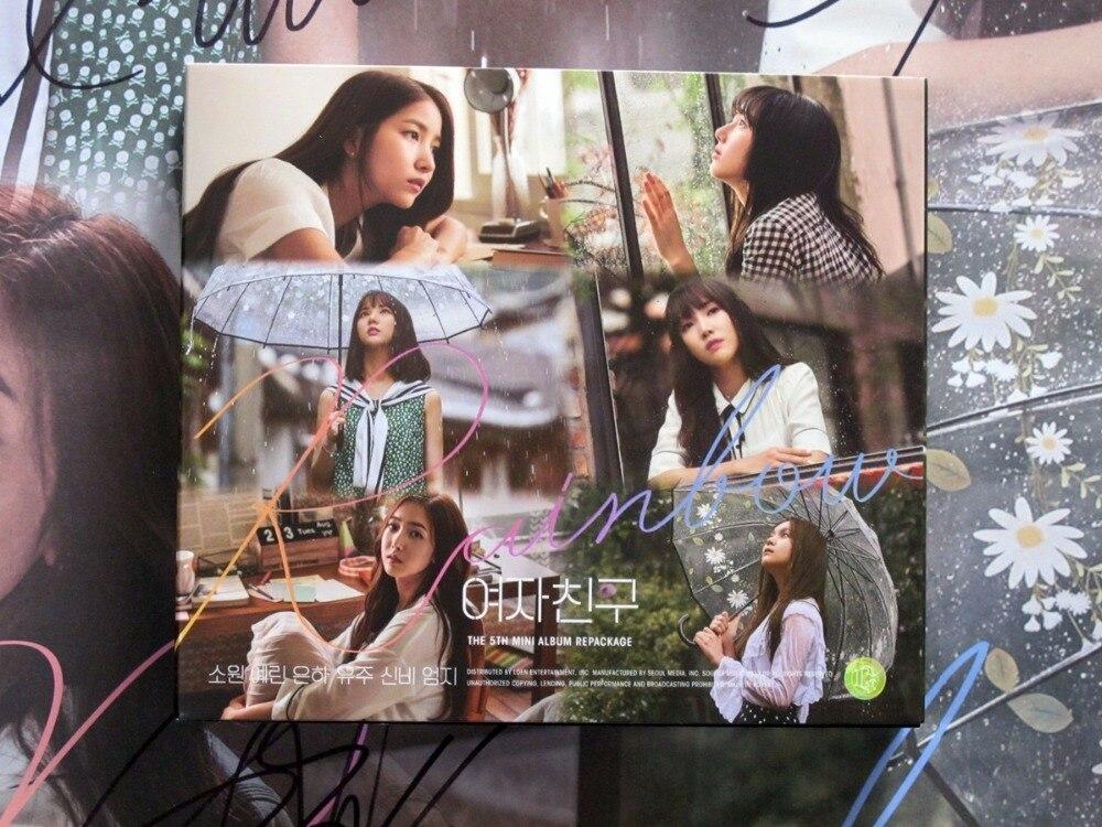 signed GFRIEND autographed mini 5th following album RAINBOW signed poster K POP 10 2017