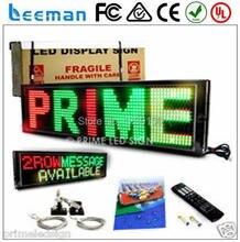 Leeman Alibaba Выразить Горячие Продажи P10 Одинокая Белая Цвет Программируемый ПРИВЕЛО Движущихся Сообщение Вывеска с шагом 10 мм