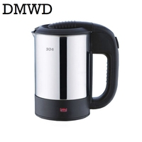 DMWD Dual Voltage Travel Electric Heating Kettle MINI Teapot Cup Water Heater Portable Stainless Steel Tea