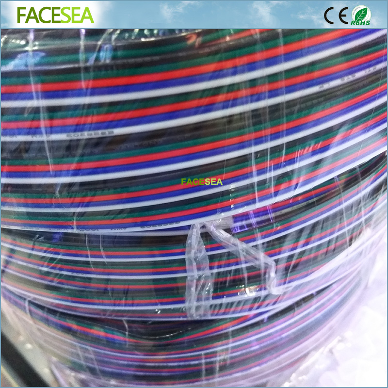 500M/lot 2Pin 3pin 4pin 5pin LED Strip Extension Cable Wire 22AWG Cord Connector For 3528 5050 RGBWW LED Strip Light