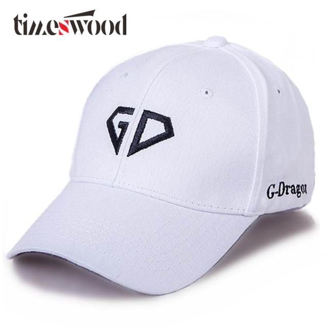 aae495bbabb 2018 Brand GD Letter Baseball Caps For Men Women Cotton Adjustable Casual  Bone Hat Hip Hop Cool Cap Korea Style New Strapback