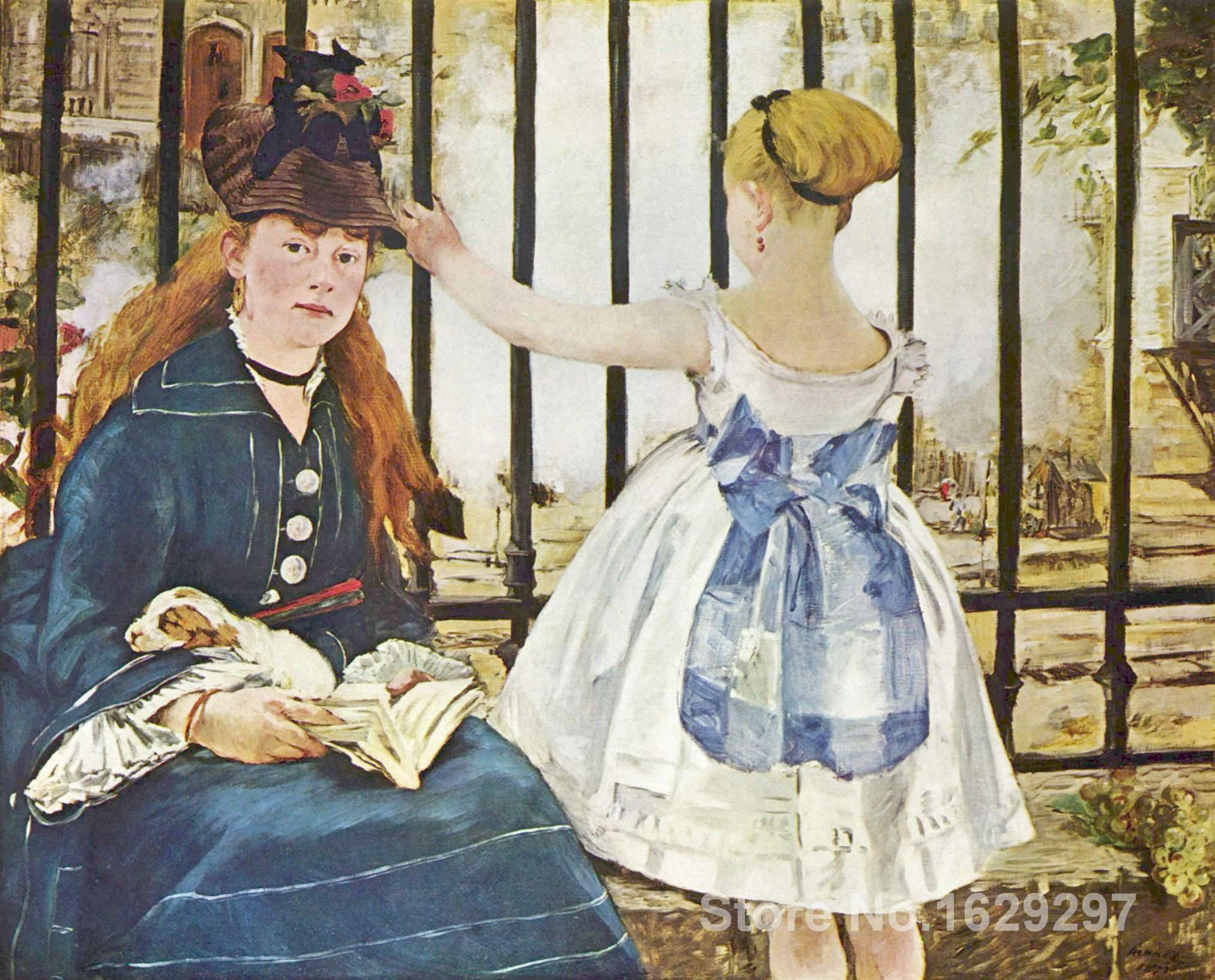 art for sale Railway by Edouard Manet canvas Handmade High quality