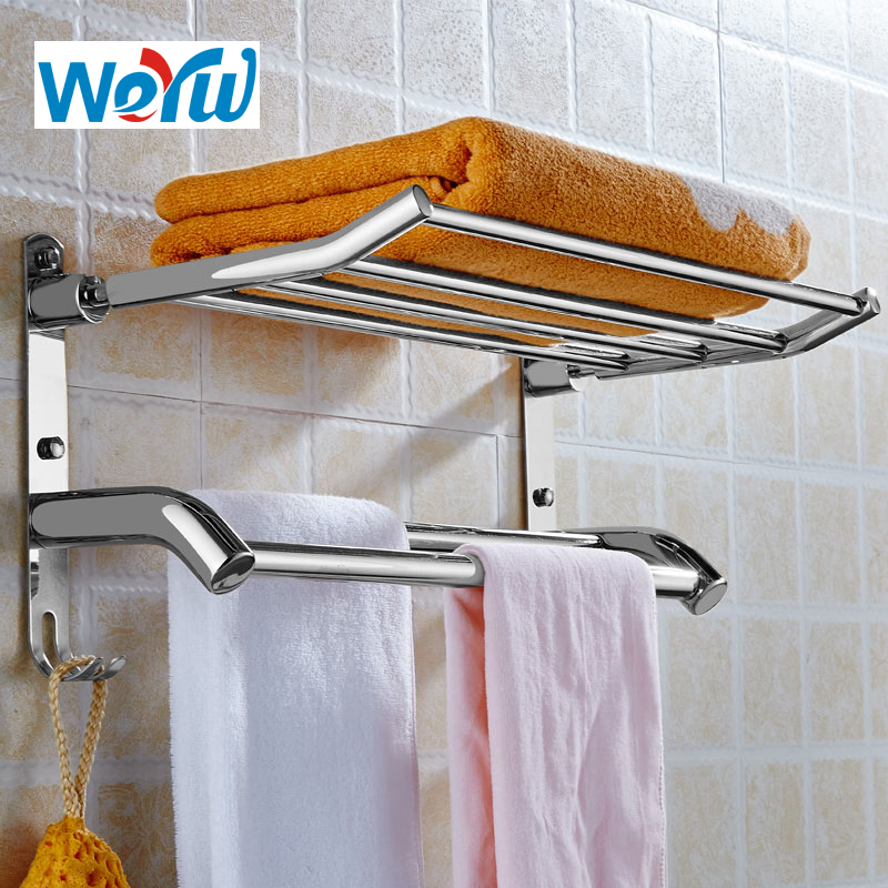 WEYUU Bathroom Shelves Stainless Steel  2-3 Tier Storage Basket Bathroom Towel Rack Soap Dish Shampoo Rack Wall Shower Rack Hook black bathroom shelves stainless steel 2 tier square shelf shower caddy storage shampoo basket kitchen corner shampoo holder