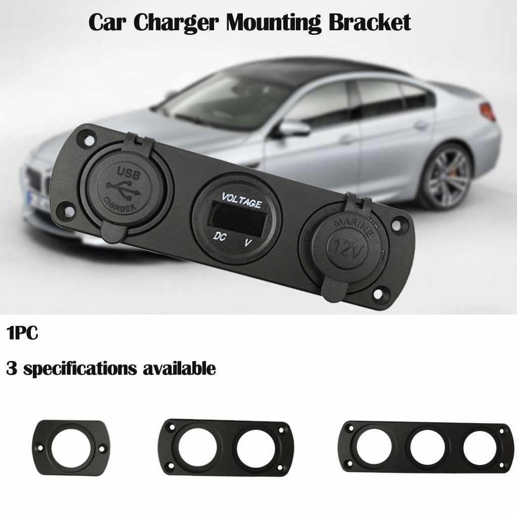 2019 INS Panel caliente enchufe de carga USB cargador de coche soporte de montaje 1/2/3 agujeros dispositivos multifunción