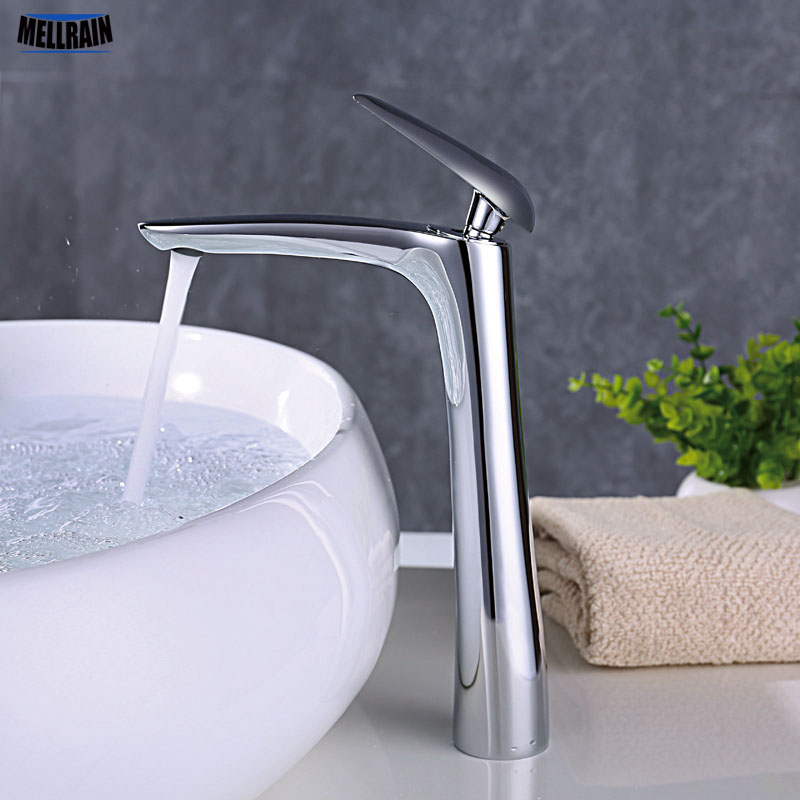 Black White Chrome Plated Deck Mounted Basin Faucet Solid Brass Bathroom Faucet Single Handle Hot And