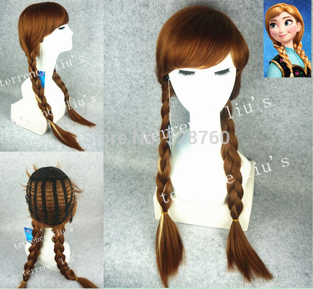 Snow Queen Wig  Anna Cosplay Wig Free Shipping