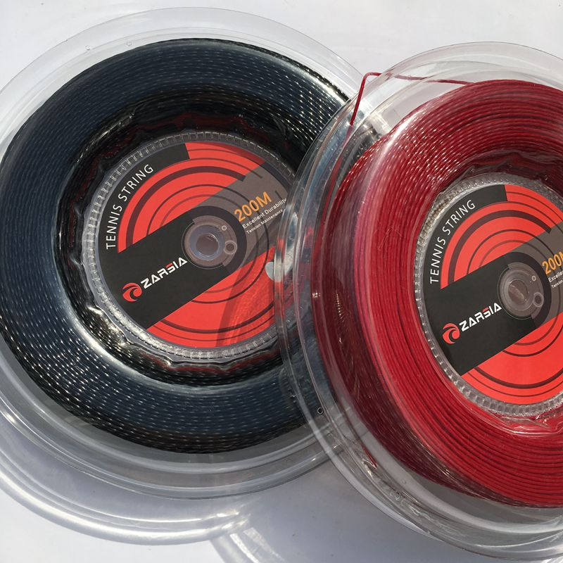 1 Reel  Genuine Brand ZARSIA Black Twist Tennis String Reel Tennis String,made In Taiwan,Hexaspin Twister Polyester Strings