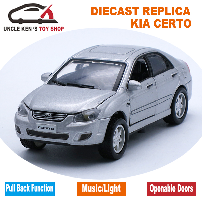 1 34 Kia Cerato Metal Scale Model Diecast Car Toys With Functions