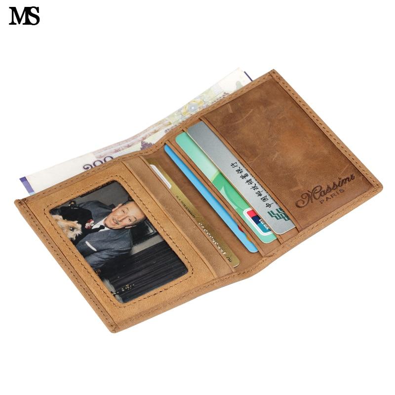 MS Gratis frakt Hot Sälj Mäns Äkta Läder Plånbok Business Tillfälligt Kreditkort ID Hållare Pengar Kort Hållare 2 Färger K100