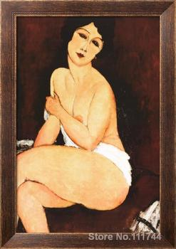 art to canvas Beautiful Woman by Amedeo Modigliani paintings High quality Handmade