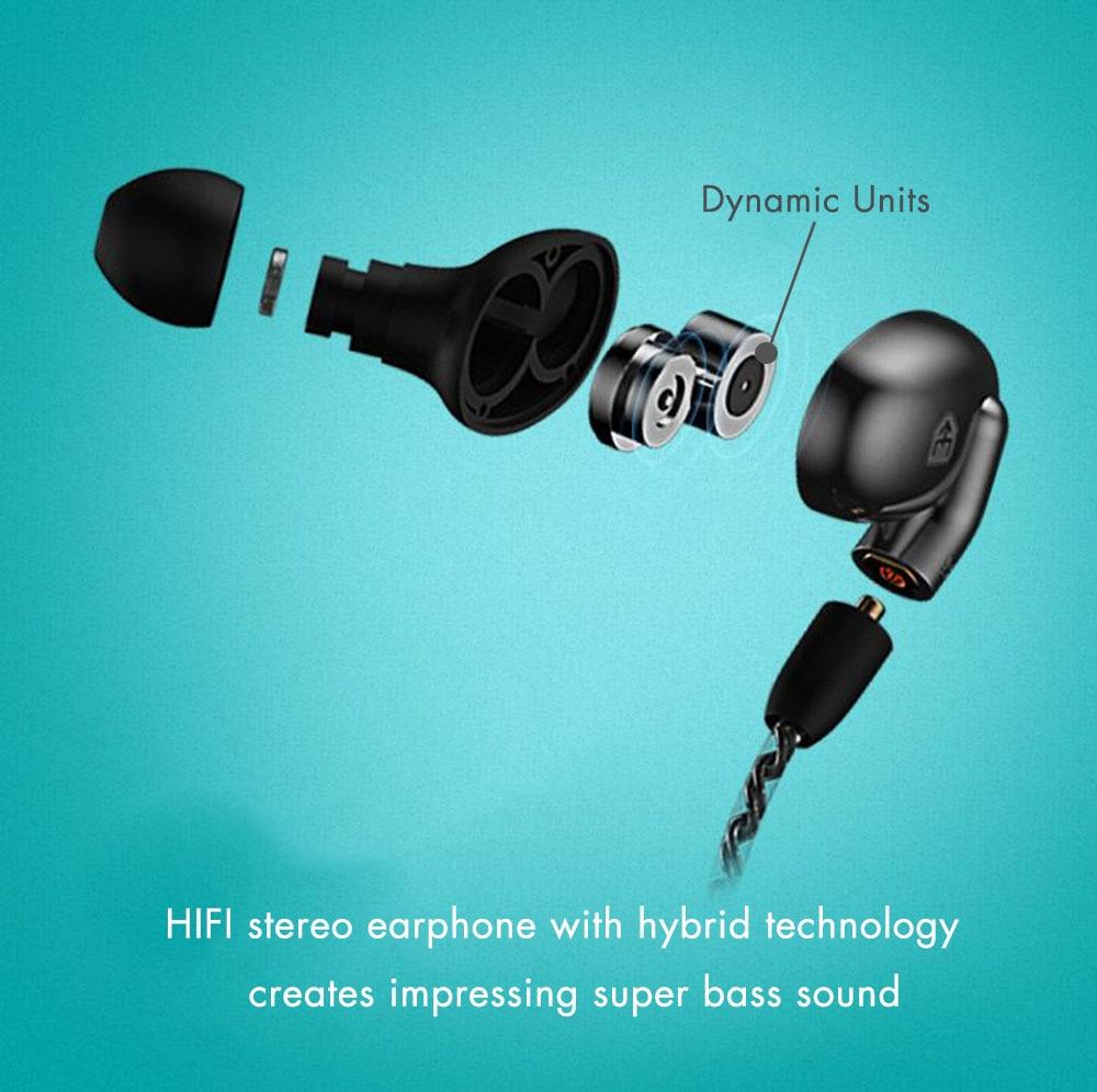 BETNEW H1 Innovative HIFI Hybrid Wireless in Ear Bluetooth Earphone ...