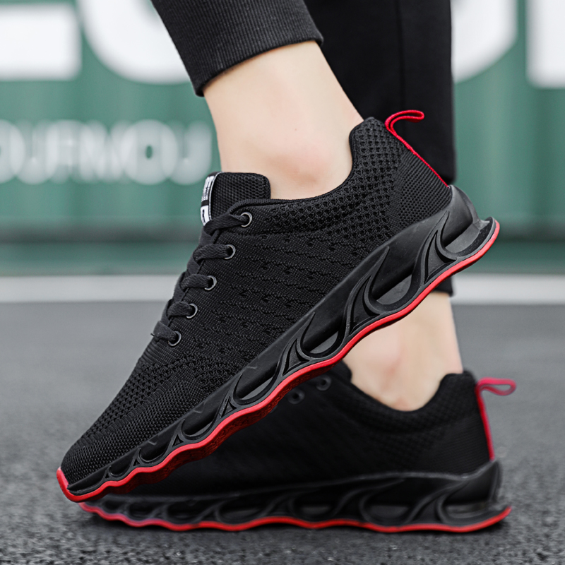 Men Sneakers Outdoor Walking Jogging Trainer Athletic Breathable Sports Shoes Mesh Lace up Sport Running shoes кроссовки in Running Shoes from Sports Entertainment