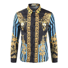 2018 New Summer Mens Long Sleeve Beach 3D Shirts Cotton Casual Floral Regular Plus Size 3XL clothing Fashion