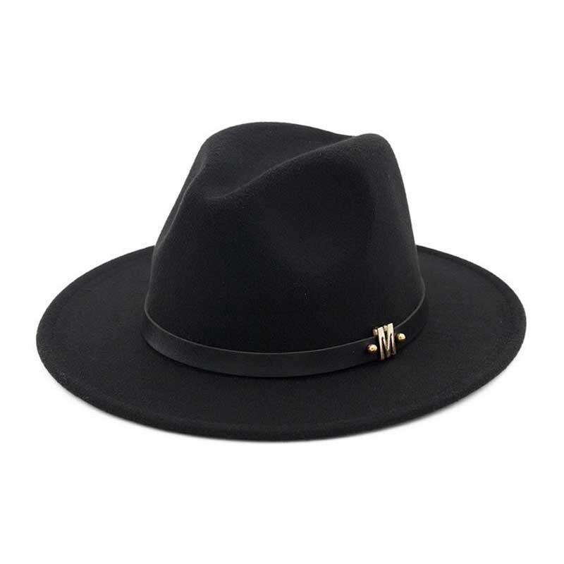 b37d8dbe7de Vintage Black Fedora Hat Men Classic Felt Hats Winter Wool Hat Gentlman  Wide Brim Jazz Cap Fashion Autumn Panama Hat Trilby Caps