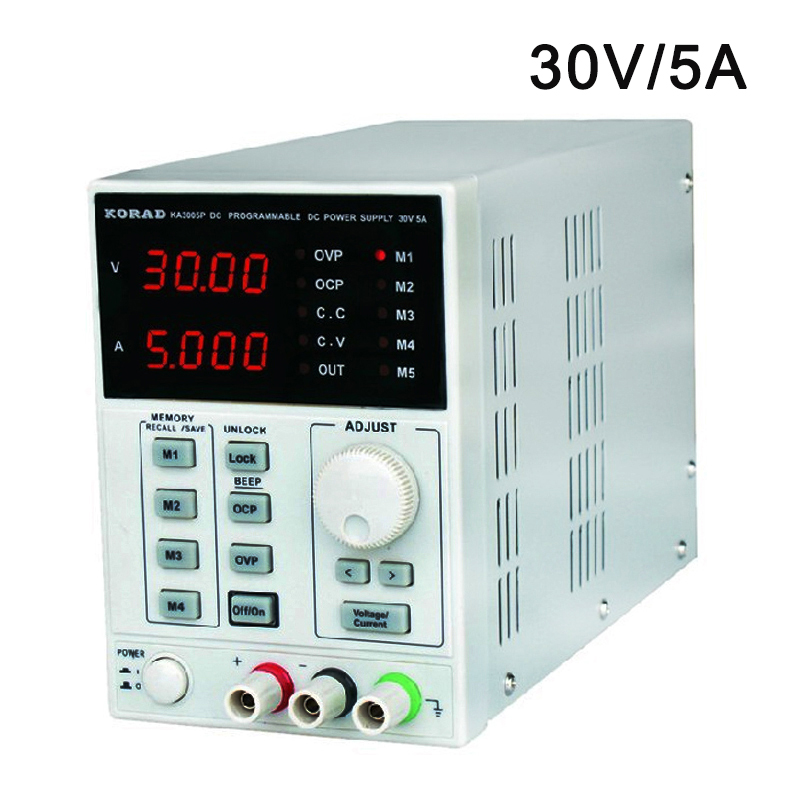 KA3005P Programmable Precision Adjustable 30V, 5A DC Linear Power Supply Digital Regulated Lab Grade (with USB and software) it6720 programmable dc power supply 60v 5a lab grade