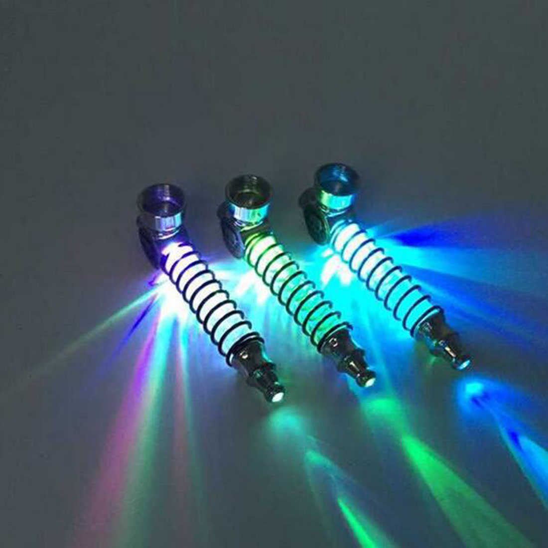 Fashion Light Spring Tube LED Light Metal Smokings