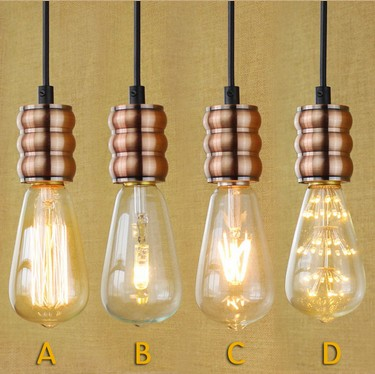 Nordic Loft Metal Retro Droplight Edison Industrial Vintage Pendant Light Fixtures For Living Dining Room Bar Hanging Lamp nordic vintage loft industrial edison spring ceiling lamp droplight pendant cafe bar hanging light hall coffee shop store