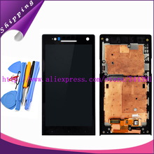 Original tested LCD For Sony Ericsson Xperia S LT26 LT26i LCD Display Touch Screen Digitizer With Frame Assembly+TOOLS Free ship