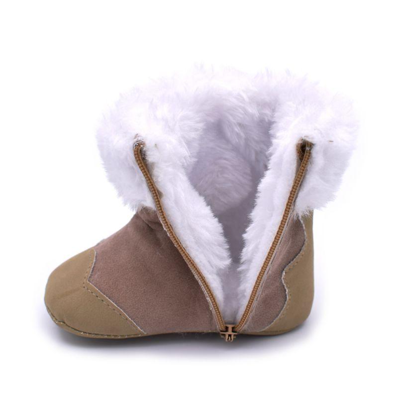 Lucu Bayi Laki-laki Musim Dingin Lembut Booties Anti Slip Sepatu Salju  Hangat Sepatu Mewah 5d08914235