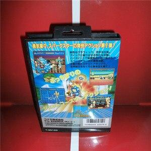 Image 2 - Sparkster 2 japonya kapak kutusu ve manuel Sega Megadrive Genesis Video oyunu konsolu 16 bit MD kart
