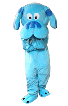 New blue dog mascot costume fursuit halloween costume party costume dinosaurs fancy dress christmas gift