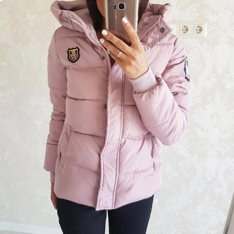 2017 New Design Women Parkas Short Women Cotton Padded Jacket Autumn Winter Women Jackets Coats with Hooded Plus Size aishgwbsj winter women jacket 2017 new hooded female cotton coats padded fur collar parkas plus size overcoats pl155