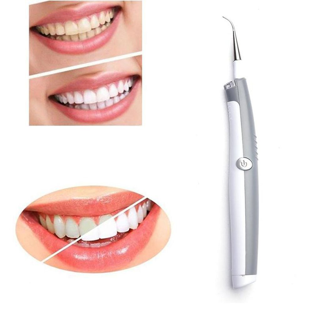 Electric Teeth Whitening Dental Calculus Remover Tooth Cleaner Ultrasonic Dental Toothpick Tooth Cleaner Oral Hygiene LED Light
