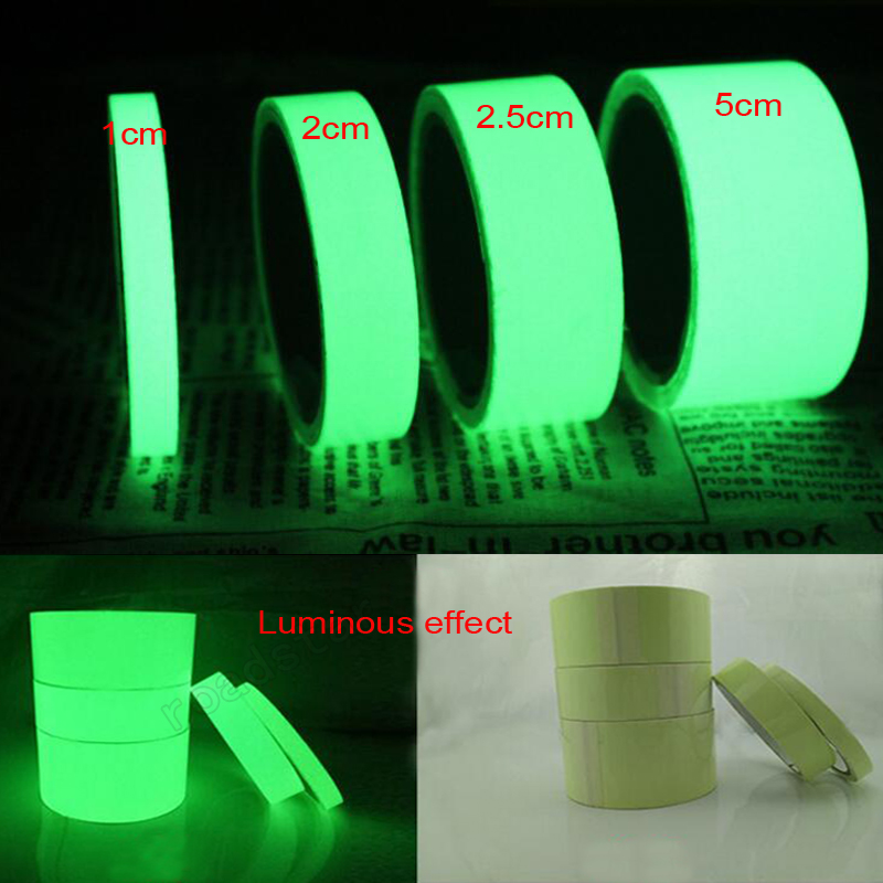 Glow In Dark Tape Photoluminescent Luminous Tape Self adhesive Stage Home Decoration-in Warning Tape from Security & Protection