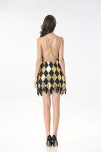 Image 4 - セクシーな衣装コスプレハーレークインドレス大人レディースガールズハロウィンカーニバルパーティー衣装ドレスとかつら