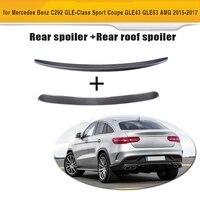 GLE Class Carbon Fiber Rear Roof Wing Trunk Trim Sticker Spoiler for Mercedes Benz C292 Sport GLE43 GLE63 AMG 2015 2017 2PCS