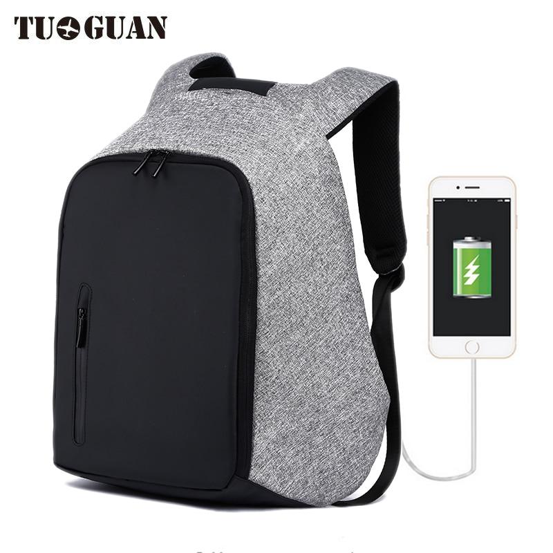 TUGUAN new anti theft backpack canvas backpack men waterproof multi-function travel school bag mochila masculina laptop bagpack