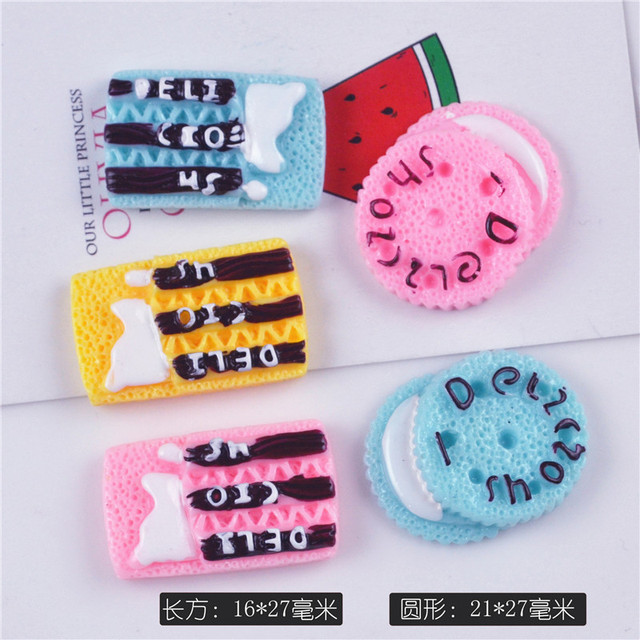 Resin Food Play Cream Biscuit Accessories Diy Material Slime Accessories Supplies Play Dough Tool Polymer Clay Mold Creative Toy