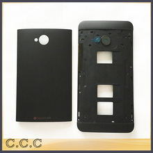Original for HTC One Dual Sim M7 802t 802d 802w housing  battery cover back case + middle frame bezel