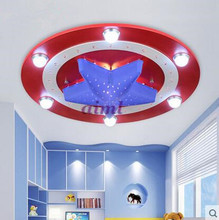 LED 21W-30W  America captain  creative cartoon male girl eye children room bedroom absorb dome light 220-240v     @-9 все цены