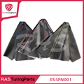 RASTUNINGPARTS Leather Carbon Fiber JDM Shift Knob Shifter Boot Cover For MT/AT  RS-SFN001