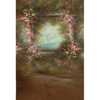 Anticrease Fleece Rococo Handpainted Style Flower Photography Backdrops For Photo Sutdio Photographic Backgrounds Props S 1259