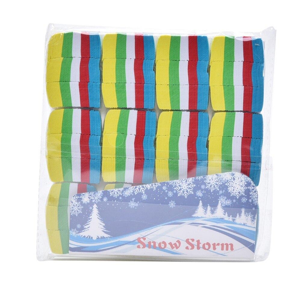 12 Pcs Wholesale Colorful Snowflakes Paper Snow Storm Paper Magic Trick Paper Tricks Props For Magician Show
