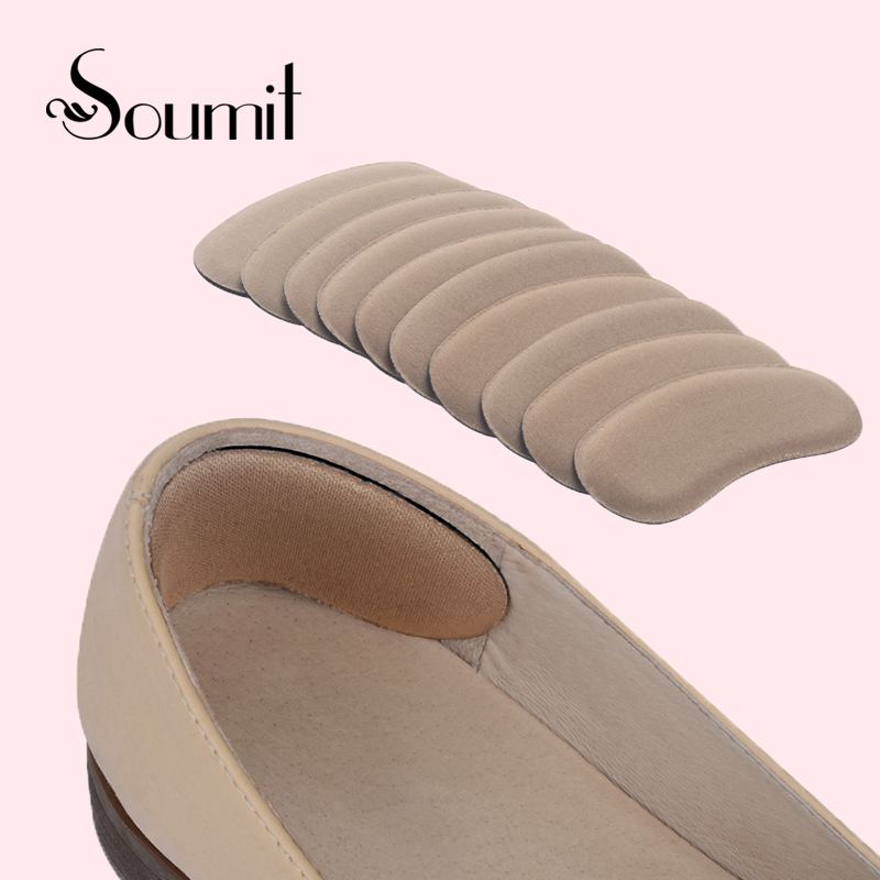 5pair High Quality Svamp Invisible Back Heel Pads for High Heel Shoes Grip Lime Foot Care Pute Sett Pads Insoles