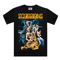 Brand clothing Cotton SCORPIONS A SAVAGE CRAZY WORLD print t shirts men summer short sleeve tee big size S-XXXL good qualtity