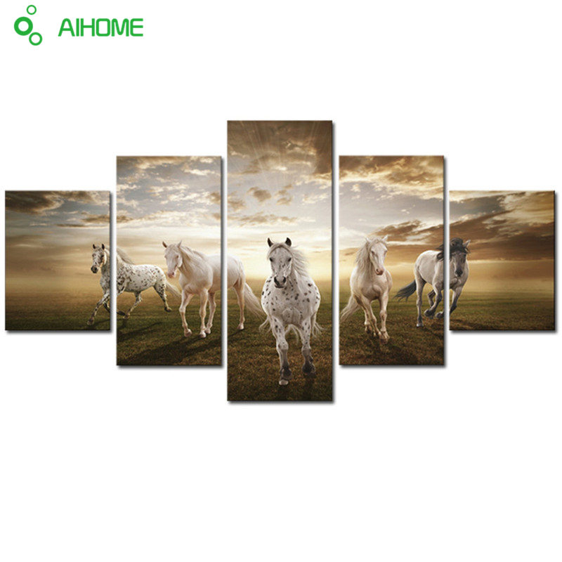 sin marco animales caballo corriendo pantalla hd imprimir pintura moderna casa decoracin de la pared de