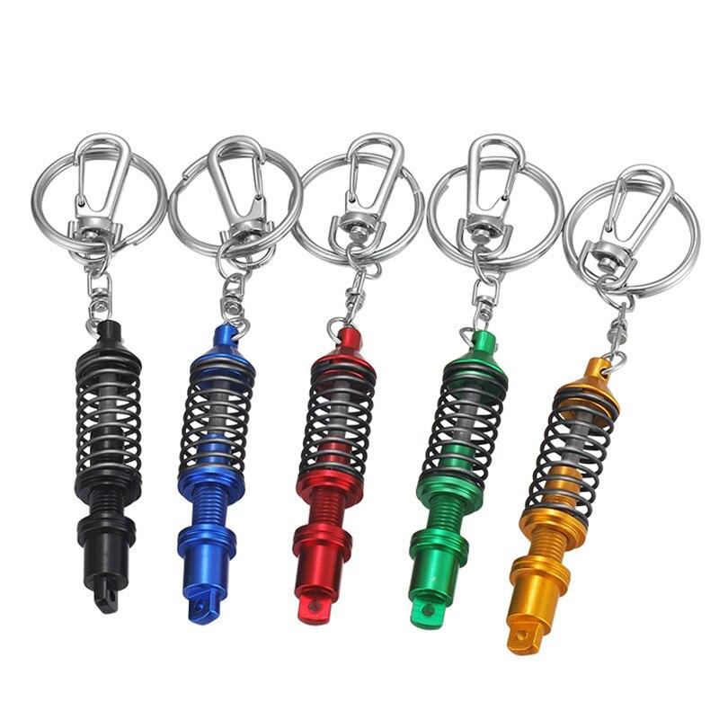 Adjustable Coilover Spring Car Part Shock Absorber Keyring Chain Metal Gift